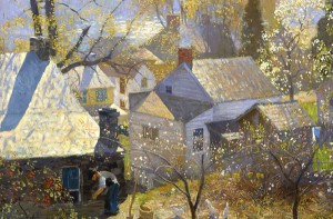 A painting by Daniel Garber from the Michener Museum