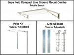 Supa Fold Compact Line Ground Mount Combo